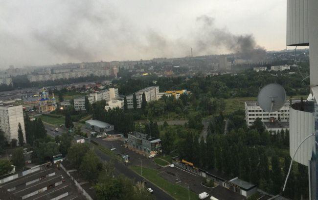 Фото: пожар в харьковском НИИ