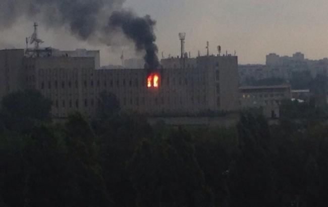 Фото: пожар в Харькове (соцсети)