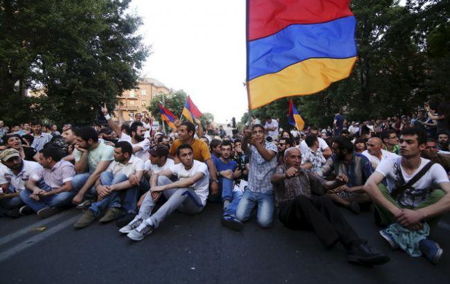 Фото: протесты в Ереване