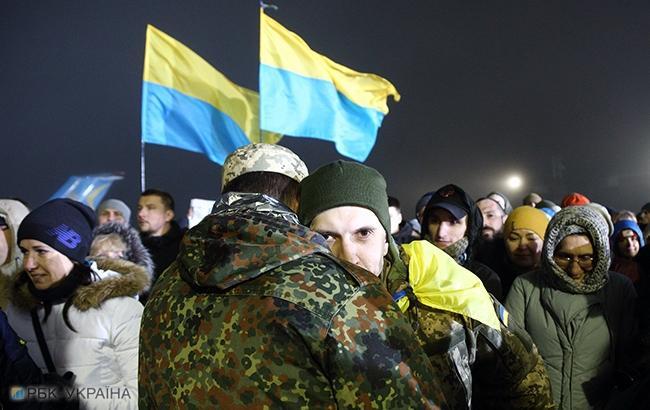 Фото: Возвращение пленных (РБК-Украина)