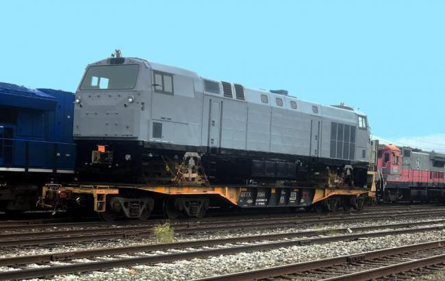 Фото: локомотив General Electric (facebook.com/Kravtsov.Evg)