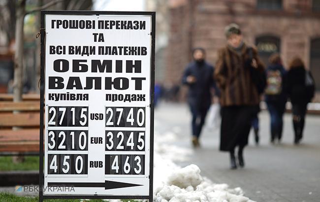 Готівковий курс долара у продажу підвищився до 28,05 гривні/долар