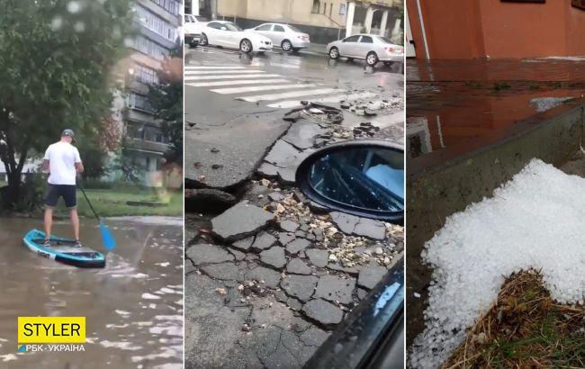 Хмельницкий накрыла жуткая непогода: последствия бури - на фото и видео
