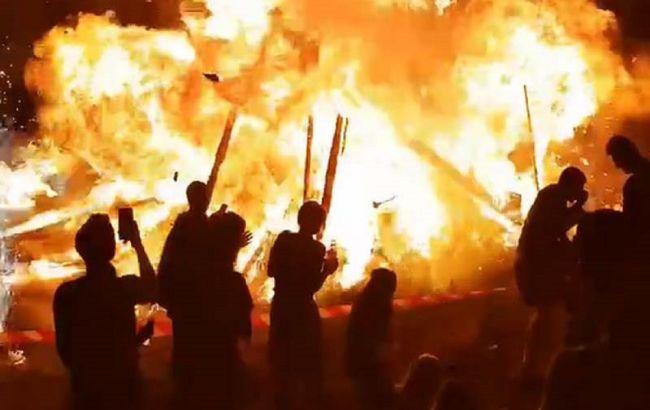 У Коростені на святкуванні Купала сталася вогняна НП: відео шокувало українців