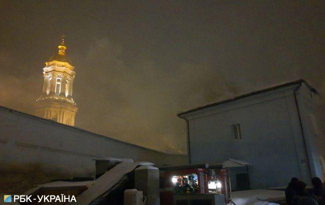 У Києві горить одна з будівель Києво-Печерської лаври