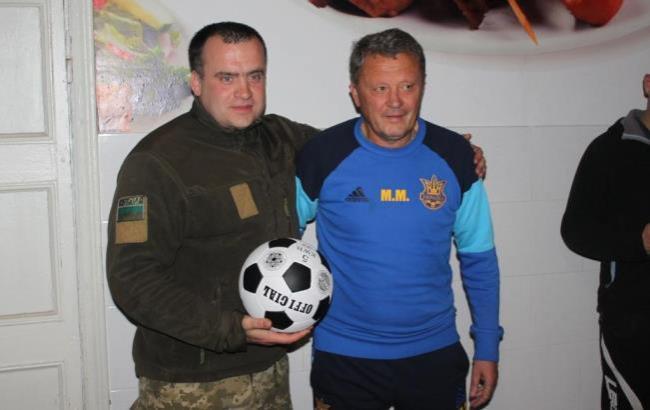 Фото: Мирон Маркевич прийшов у гості до прикордонникам Краматорського загону (dpsu.gov.ua)