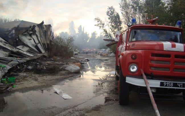 Вцентре столицы Украины произошел пожар натерритории ТЭЦ