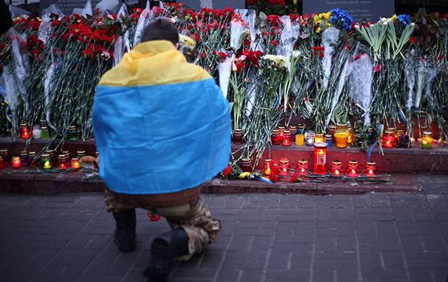 Фото: сегодня в Украине День достоинства и свободы (РБК-Украина)