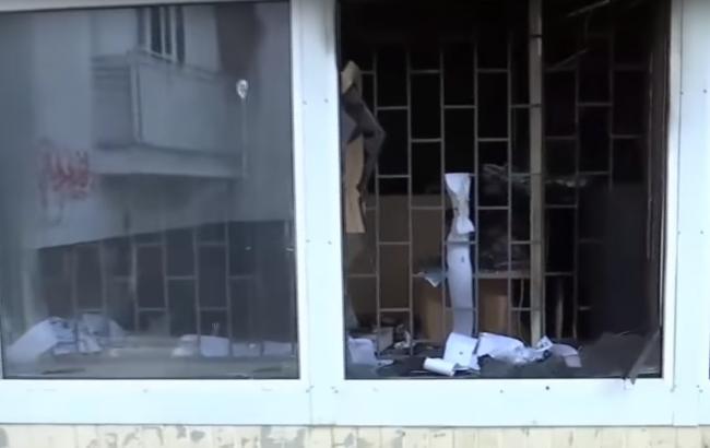 Взрыв в отделении банка в Киеве: появилось видео с места происшествия