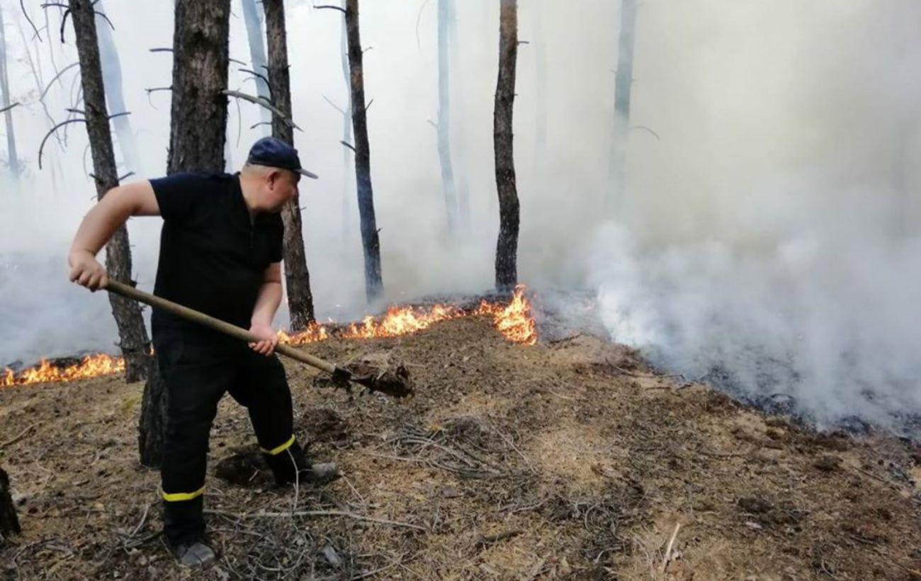 У Луганській області загасили один із осередків пожежі