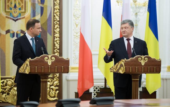 Фото: Порошенко і Дуда під час зустрічі в Києві
