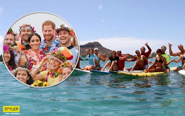 """""""Яркая пятница"""": Меган Маркл и принц Гарри посетили пляжную вечеринку с серфингистами"""