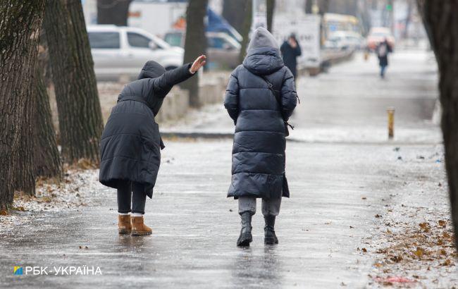 Ожеледиця не відступає: в яких областях очікується небезпечна погода