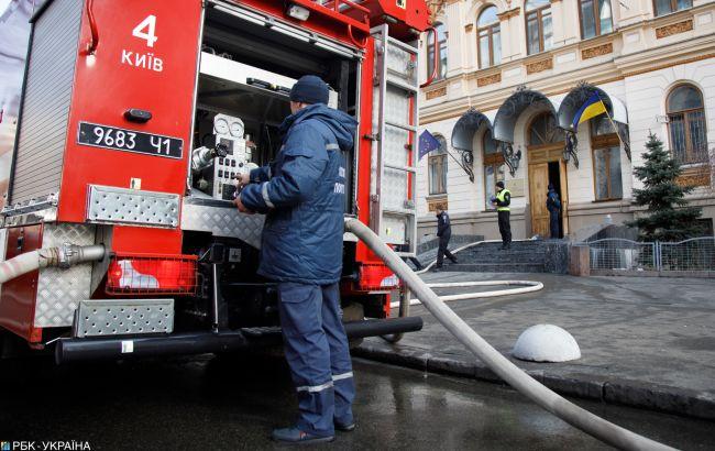В Киеве снова произошел пожар на Позняках