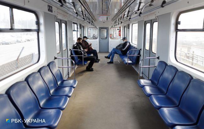 Локдаун у Києві:пасажиропотік в метро зменшився в 5 разів,графіки руху поїздів змінять