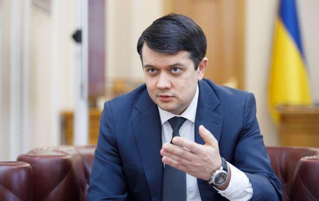 Разумков підтвердив, що Рада може зібратися на позачергове засідання