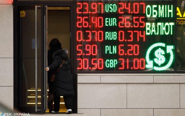 Курс долара впав до нового мінімуму за чотири роки