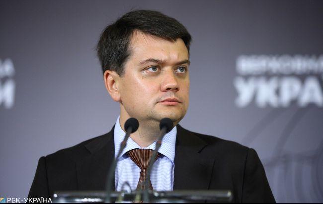 Разумков заявил, что проект госбюджета будет принят вовремя