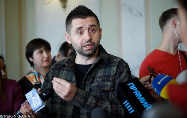 Арахамія назвав метафорою слова про стіну на Донбасі