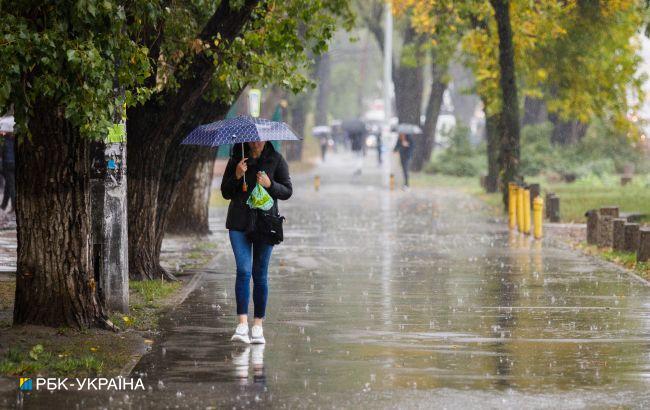 Киев завтра накроет дождь с грозой
