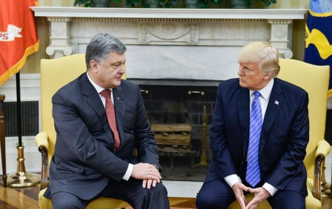 Фото: Петро Порошенко і Дональд Трамп (president.gov.ua)