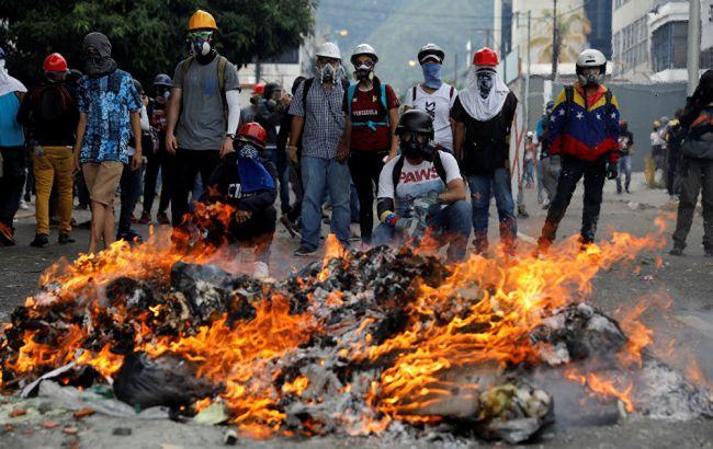 Фото: протесты в Венесуэле