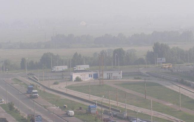 Фото: смог в Киеве