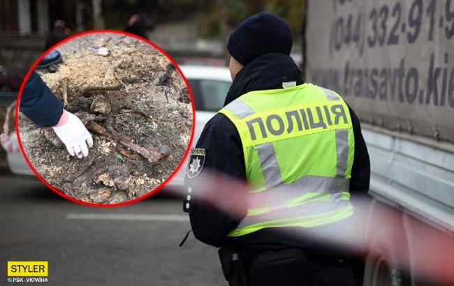 Достали кости и останки человека: детали ЧП в Киеве (видео)