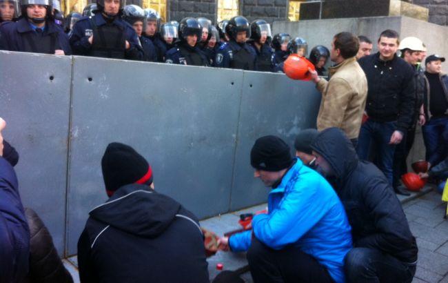 Мітингувальники заявляють шахтарі, що не покинуть Київ до виконання всіх вимог