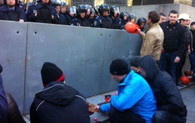 Фото: митинг шахтеров