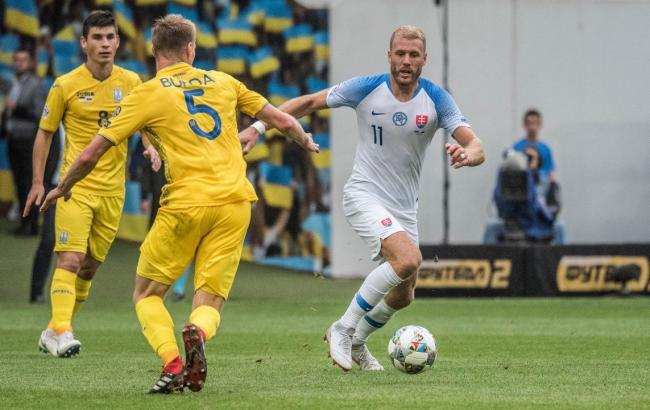 Сборная Украины крупно проиграла Словакии в последнем туре Лиги наций