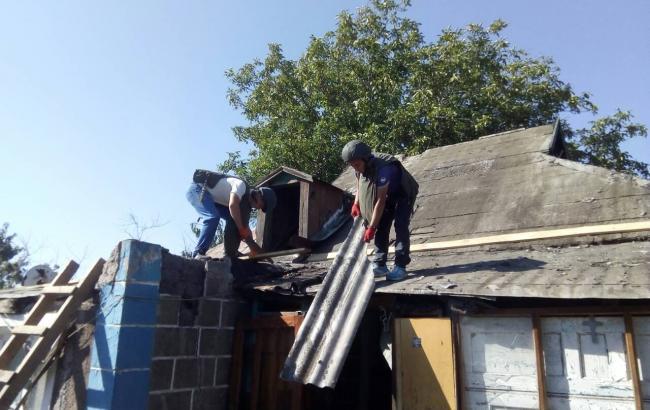 Фото: ремонти в Авдіївці (facebook.com/pressjfo.news)