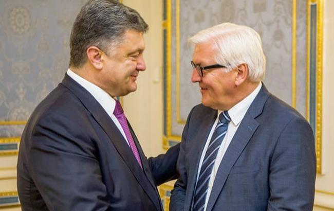 Фото: Петро Порошенко і Франк-Вальтер Штайнмайер (president.gov.ua)