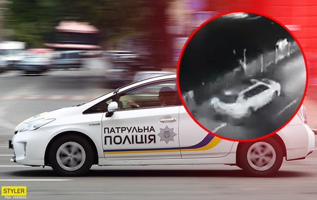 Колаж РБК-Україна Спільники потерпілого злочинця кинули награбоване і  втекли. У Києві патрульні поліцейські збили чоловіка 9b0a26cf07d34