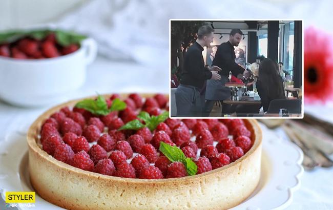 «Выносили всем мозг»: вКиеве официант запустил торт влицо посетительнице