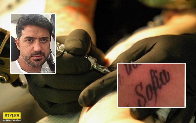 Супруг Ани Лорак сделал татуировку вчесть ихобщей дочери