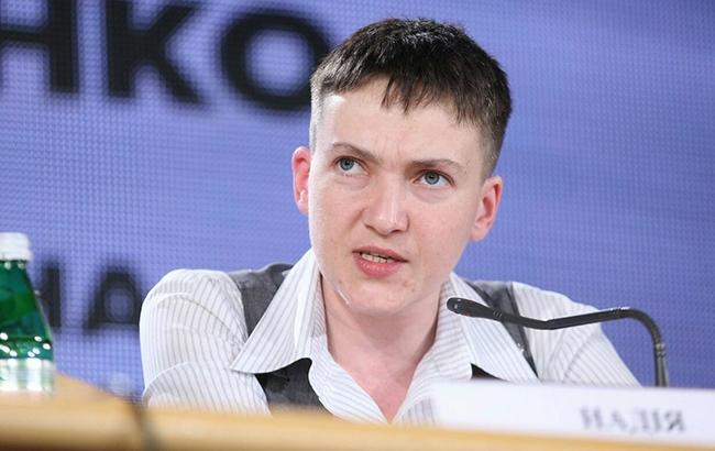 Фото: Савченко вперше виступила проти президента Петра Порошенка