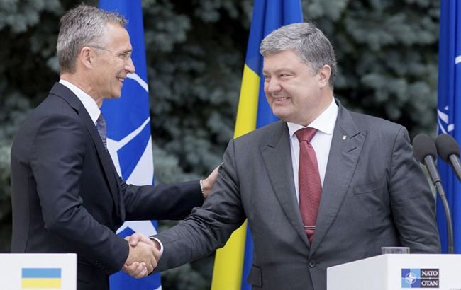 Фото: Йенс Столтенберг и Петр Порошенко (president.gov.ua)