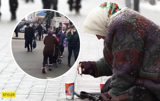 """Выдуривала деньги: """"чудесное исцеление"""" попрошайки во Франковске показали на видео"""