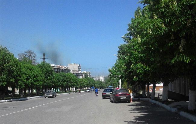 Фото: пожар в Балаклее (twitter.com-DanyloYakovlev)