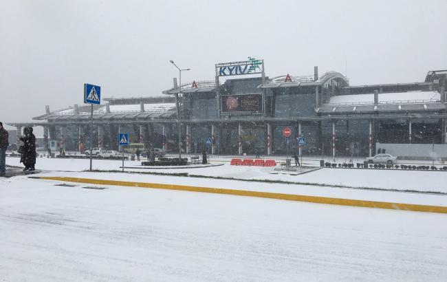 """Всі рейси аеропорту """"Київ"""" виконуються за розкладом, незважаючи на негоду"""