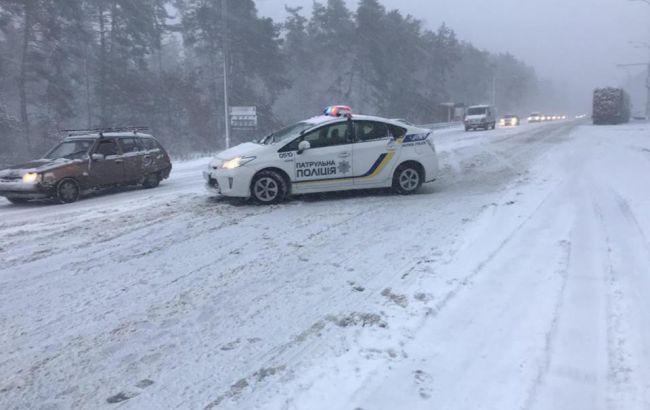 В Украине с начала снегопада произошло 1358 ДТП, погибли более 10 человек