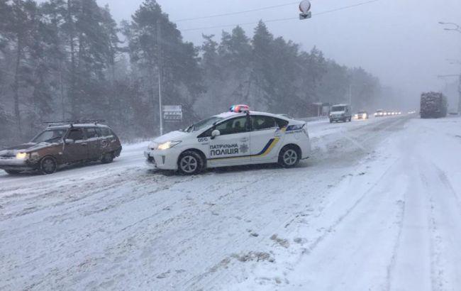 В Киеве с начала снегопада произошло почти 500 ДТП