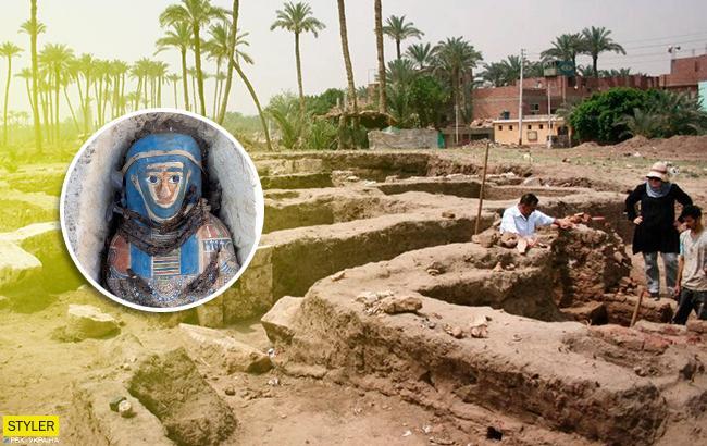 В Египте археологи обнаружили восемь известняковых гробниц
