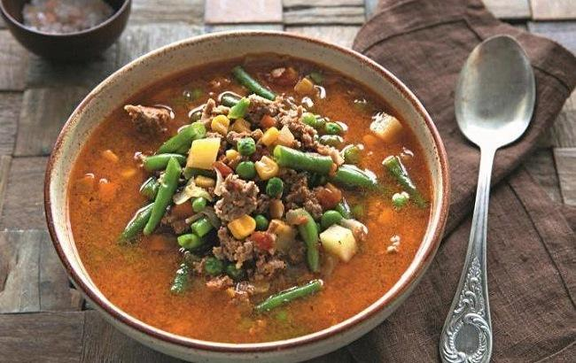 Овощной суп с фаршем: быстро и вкусно