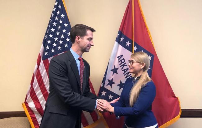 Тимошенко в США встретилась с сенатором Коттоном