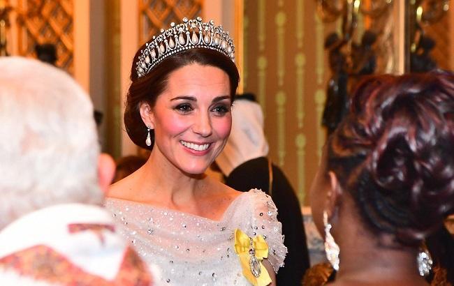 Кейт Міддлтон в тіарі принцеси Діани блищала на прийомі в палаці