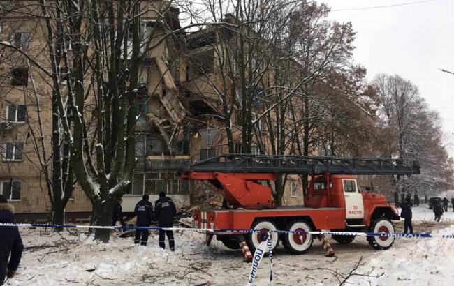 В Фастове в результате взрыва обрушилась пятиэтажка