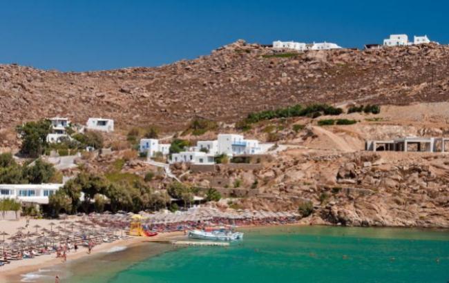 Фото: Пляж Paradise на острові Міконос в Греції