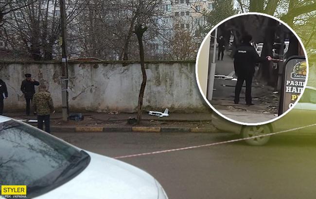 В Крыму упал беспилотник с украинскими листовками (видео)